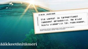 Lääketeollisuus ry mukana Lääkkeetön Itämeri -kampanjassa