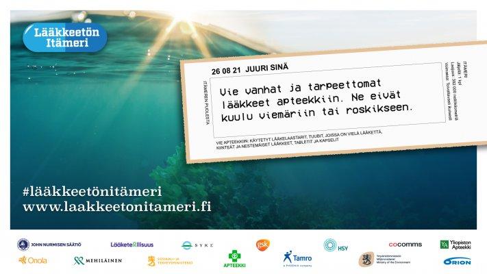 Lääketeollisuus ry jälleen mukana Lääkkeetön Itämeri -kampanjassa